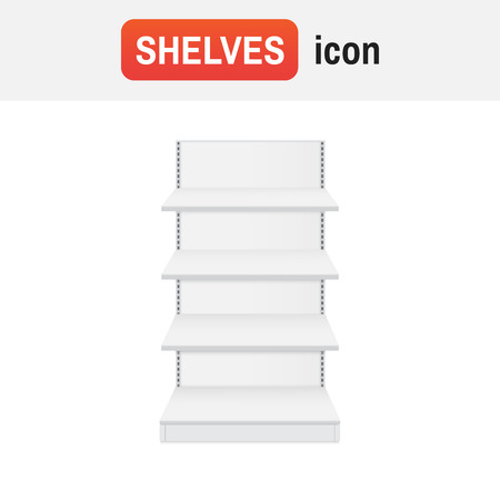 Shelf store shop. Shop shelves icon vector Çizim