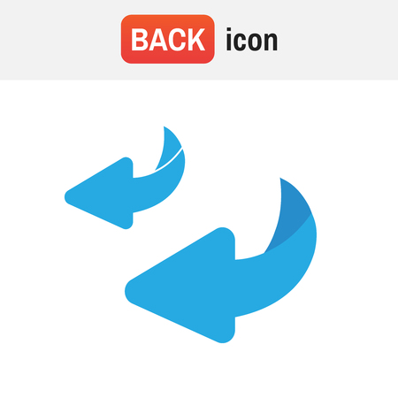 Icon flip turn. Flip over or turn vector Illustration