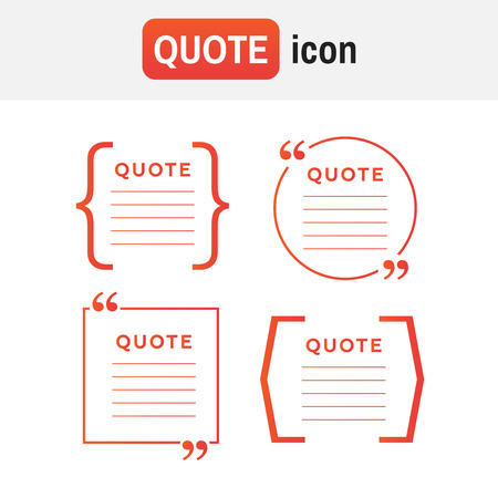 Quote comment template sign icon.