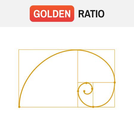 Symbool van de gouden verhouding tattoo illustratie.