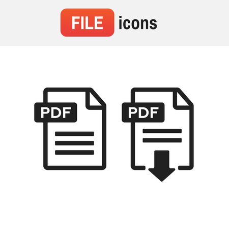 icon file document. File Icons vector illustration