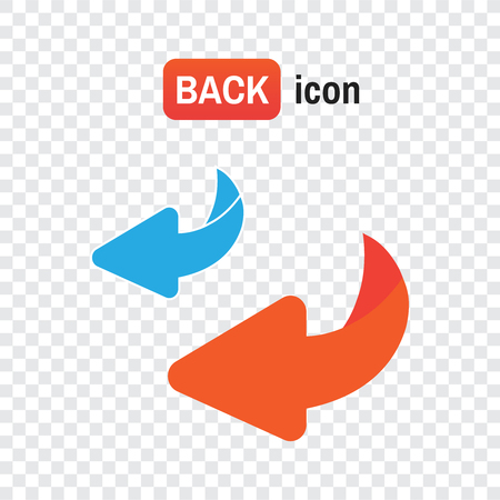 bounce back. Flip over or turn vector icon
