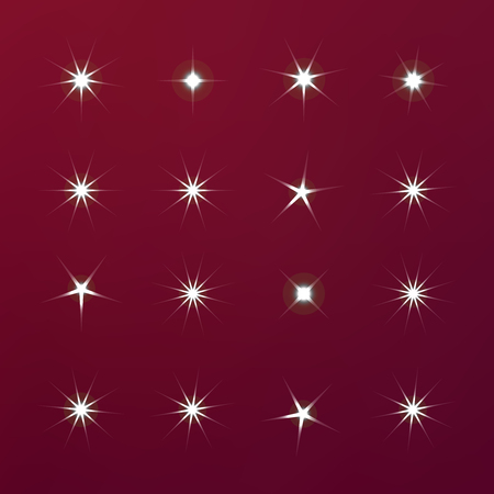 Bright firework, decoration twinkle, shiny flash. Glowing light effect star. Sparkle lights vector