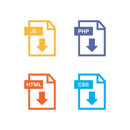 ファイル アイコン。ファイルのアイコンの行スタイルの図。ドキュメントのアイコンを設定