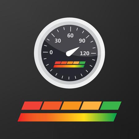 Credit score indicators and gauges vector set Stock Photo