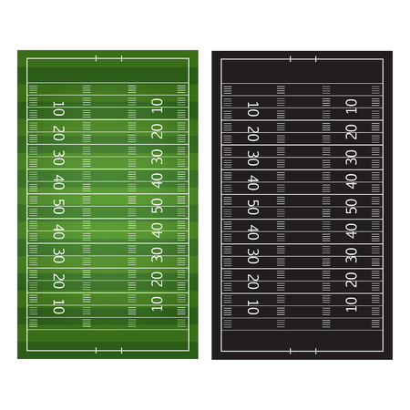 Football or soccer game strategy plan isolated on blackboard with chalk.