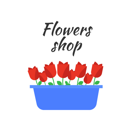 Spring flowers illustration.