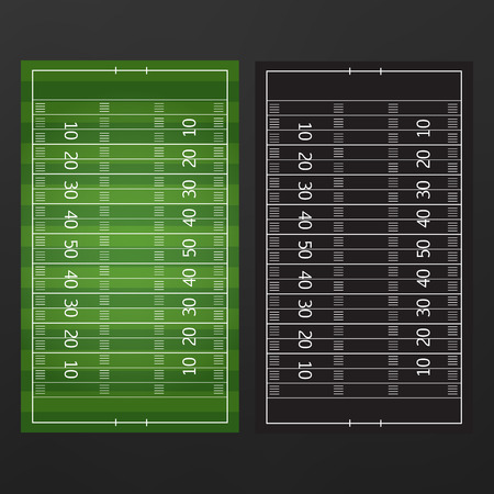 Football or soccer game strategy plan isolated on blackboard with chalk rubbed background. Football or soccer strategy board.