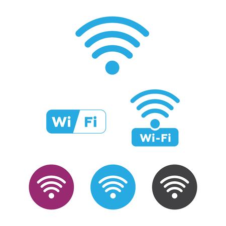 Wireless and wifi icons. Wireless Network Symbol wifi icon. Wireless and wifi vector. Illustration