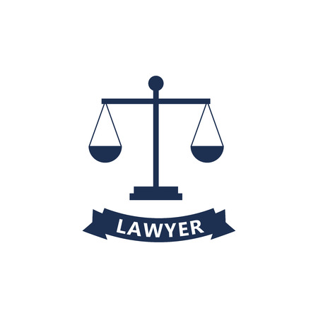 Lawyer sign and symbol vector.