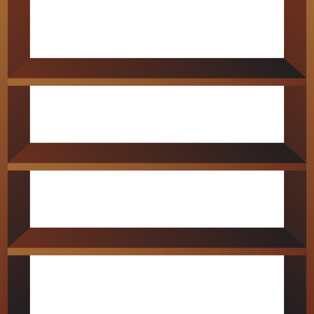 Shop shelves isolated. Store shelves vector. Retail shelves vector illustration  イラスト・ベクター素材
