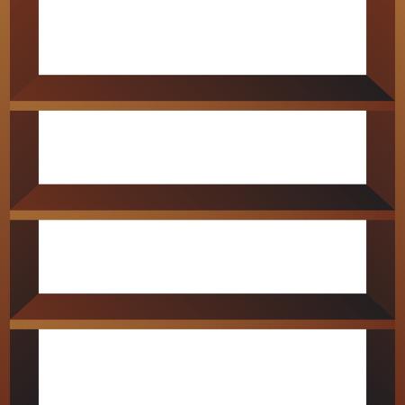 Shop shelves isolated. Store shelves vector. Retail shelves vector illustration Illustration