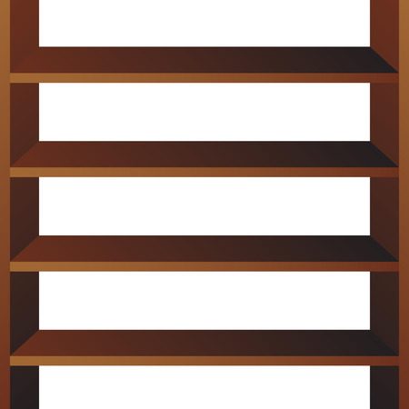 Shop shelves isolated. Store shelves vector. Retail shelves vector illustration.