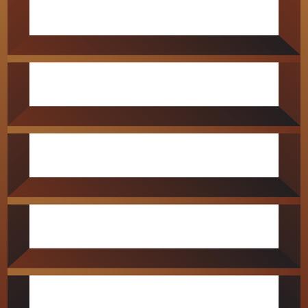 Shop shelves isolated. Store shelves vector. Retail shelves vector illustration.