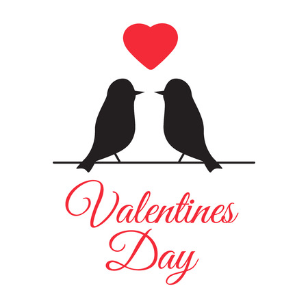 Kissing couple of doves. Kiss pigeon for valentine day or wedding. Valentine day vector illustration Illustration
