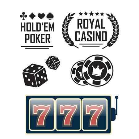 Casino vector sign set
