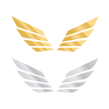 Ailes de l & # 39 ; ange vecteur . ailes d & # 39 ; oiseaux ou des ailes de style Banque d'images - 98211109