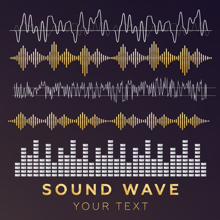 Sound waves vector sign and symbol in flat style. Vectores