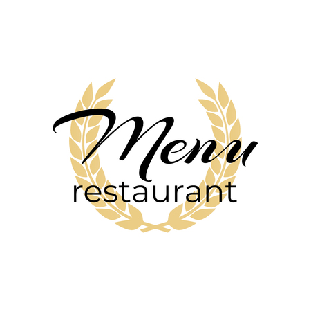 Cooking menu  .  menu restaurant or cafe. Dinner icon vec Stock Illustratie