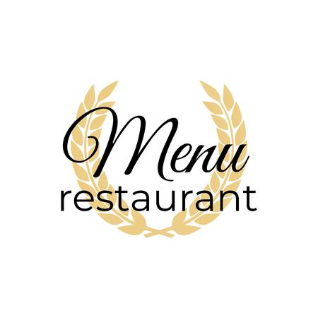 Symbol for menu restaurant or cafe Çizim