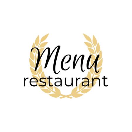 Logo menu restaurant or cafe Dinner icon vector illustration Çizim
