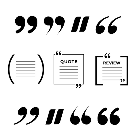 Quotes icon vector set illustration on white background.