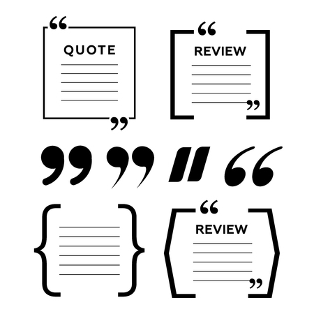 Quotes icon vector set. Quote marks vector symbol. Chat quote icon Illustration