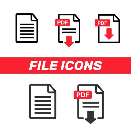 File Icons. Document icon set. File Icons line style illustration