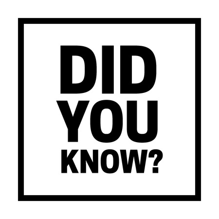 Did you know vector illustration. did you know words