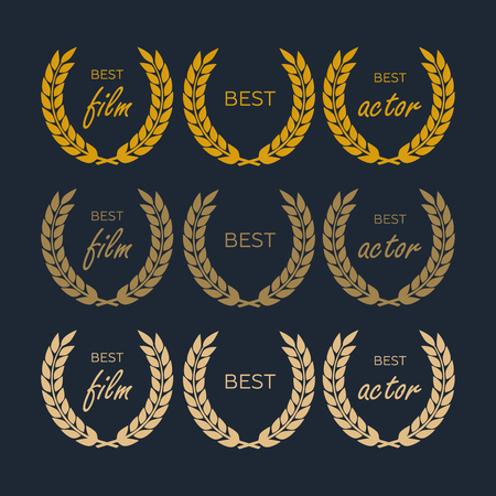 Laurel wheat awards heraldry antiquity. Winner triumph and success vector laurel Ilustração