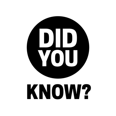 Did You Know badge vector. Did You Know question Vector Illustratie