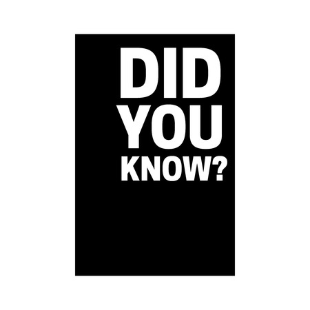 Did you know icon. Did You Know vector sign Stock fotó - 103487534