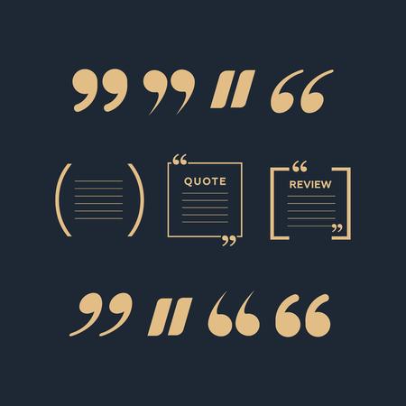 Quote text bubble. Quote blank template. Empty quote bubble. Ilustração