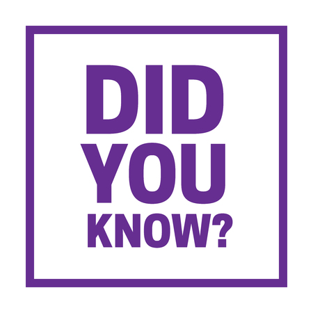 did you know words. Did You Know vector sign Illustration
