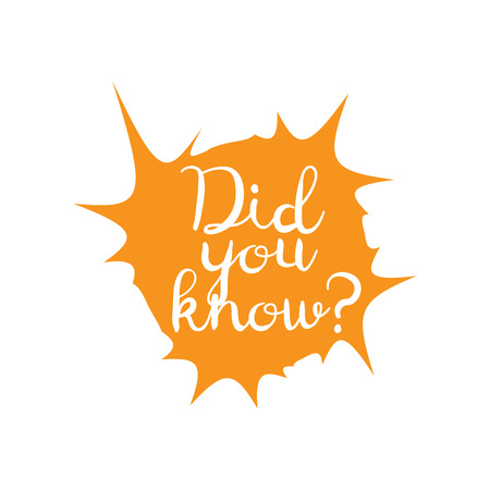 did you know words. Did You Know vector sign Stock fotó - 104706059