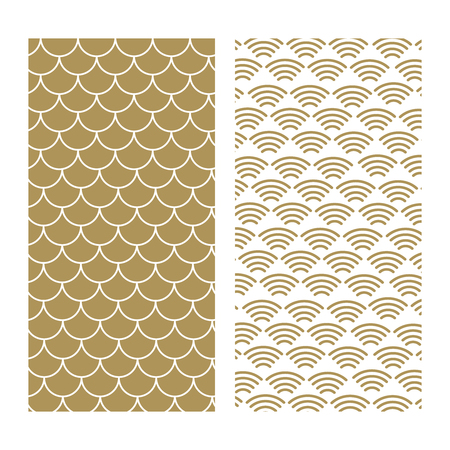 Japanese traditional pattern. Wave pattern. Sea japan pattern vector