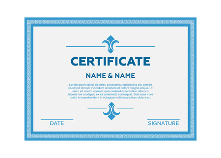 Certificate vector illustration. Certificate border template vector