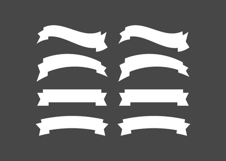 Vector ribbons set isolated. Banner ribbon vector set 일러스트