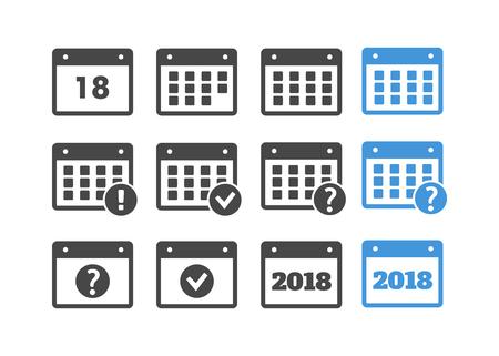 Program planner icon vector. Calendar vector sign