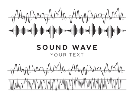 Sound waves sign and symbol in flat style