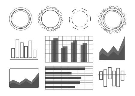 Futuristic user interface elements set. User interface vector