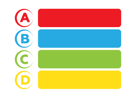 Background with four choices ABCD. Infographic ABCD choices