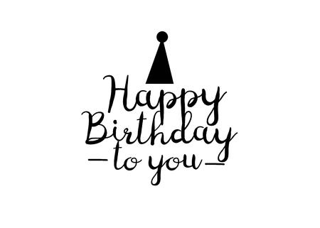 Happy Birthday greeting card. Happy birthday lettering design 矢量图像