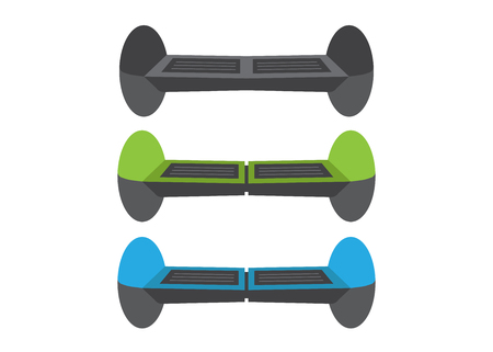 Set Self-balancing electric scooters. Active auto device Imagens - 106005148