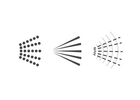 Aerosol spray vector. icon spray water. Deodorant spray vector