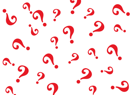 Motif de point d'interrogation. Fond de vecteur de conception de question