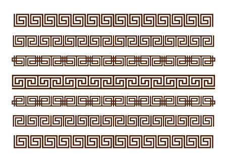 Vector Greek ornament. Greek ornament flat style