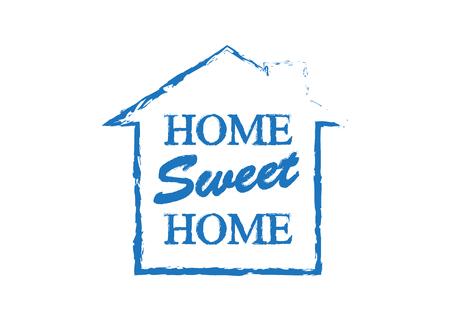 Home Sweet Home. Banner home decoration vector Illustration