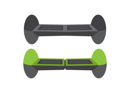Set Self-balancing electric scooters. Active auto device Imagens - 107043140
