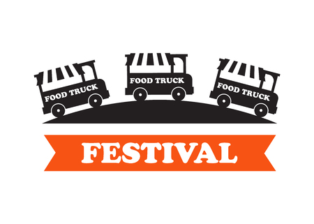 Food truck festival emblems